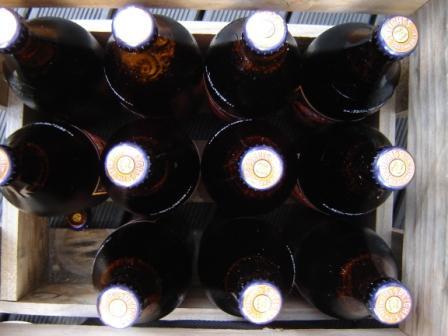 Crates Of Beer. NZ quart bottle beer crate.